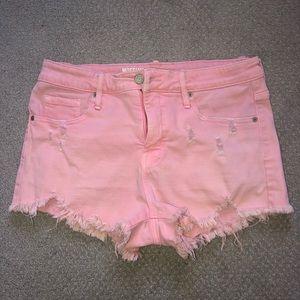 4/$25 Mossimo Cut-off Denim Jean Shorts Pink 12